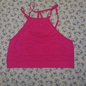 Victoria's secret high neck bralette pink tribal s